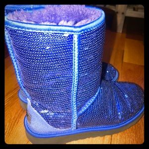 Royal Blue Sparkly UGGS